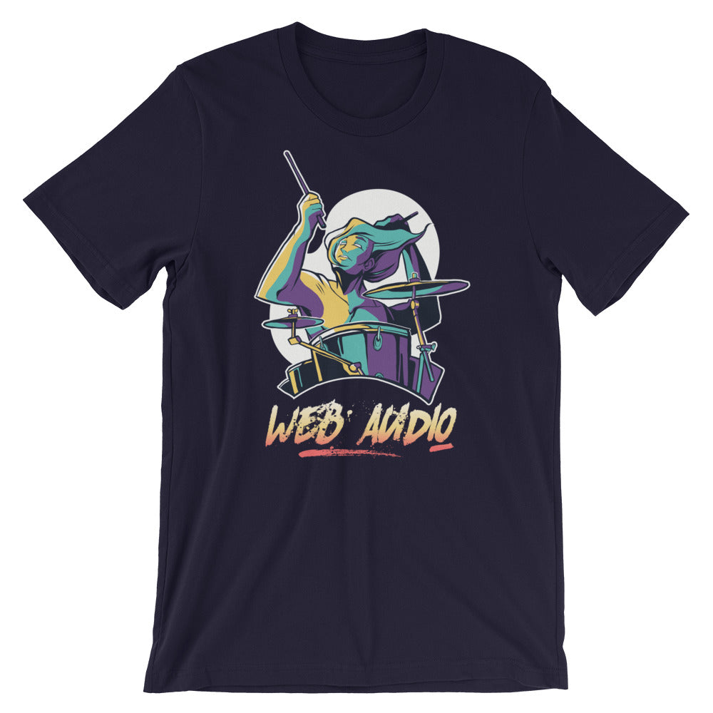 Web Audio Drummer Short-Sleeve Unisex T-Shirt