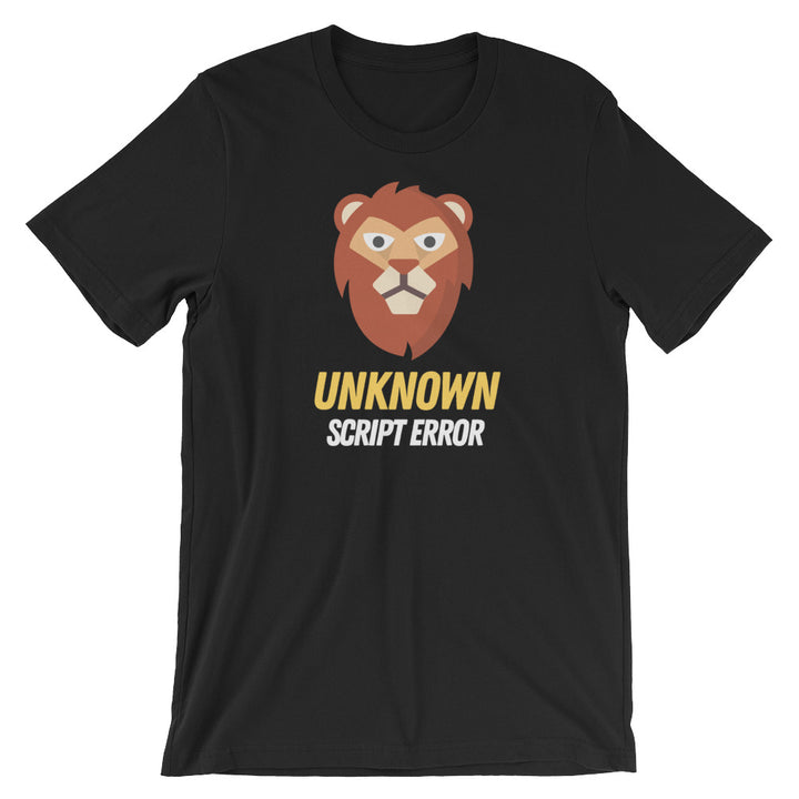 Unknown Script Error Short-Sleeve Unisex T-Shirt