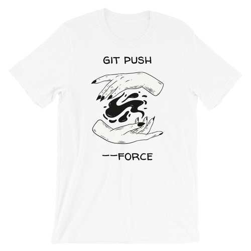Git Push Force Spell Short-Sleeve Unisex T-Shirt