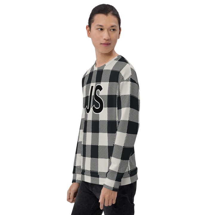 Buffalo Plaid JavaScript Unisex Sweatshirt