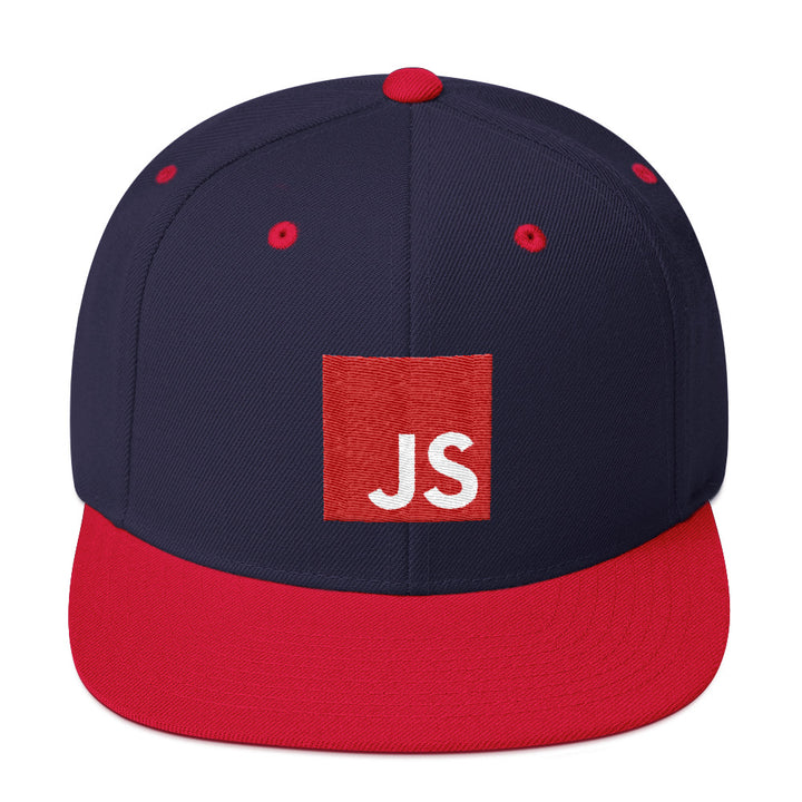 Navy/Red JavaScript Snapback Hat