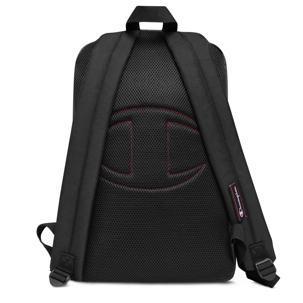 Modern JS Embroidered Champion Backpack