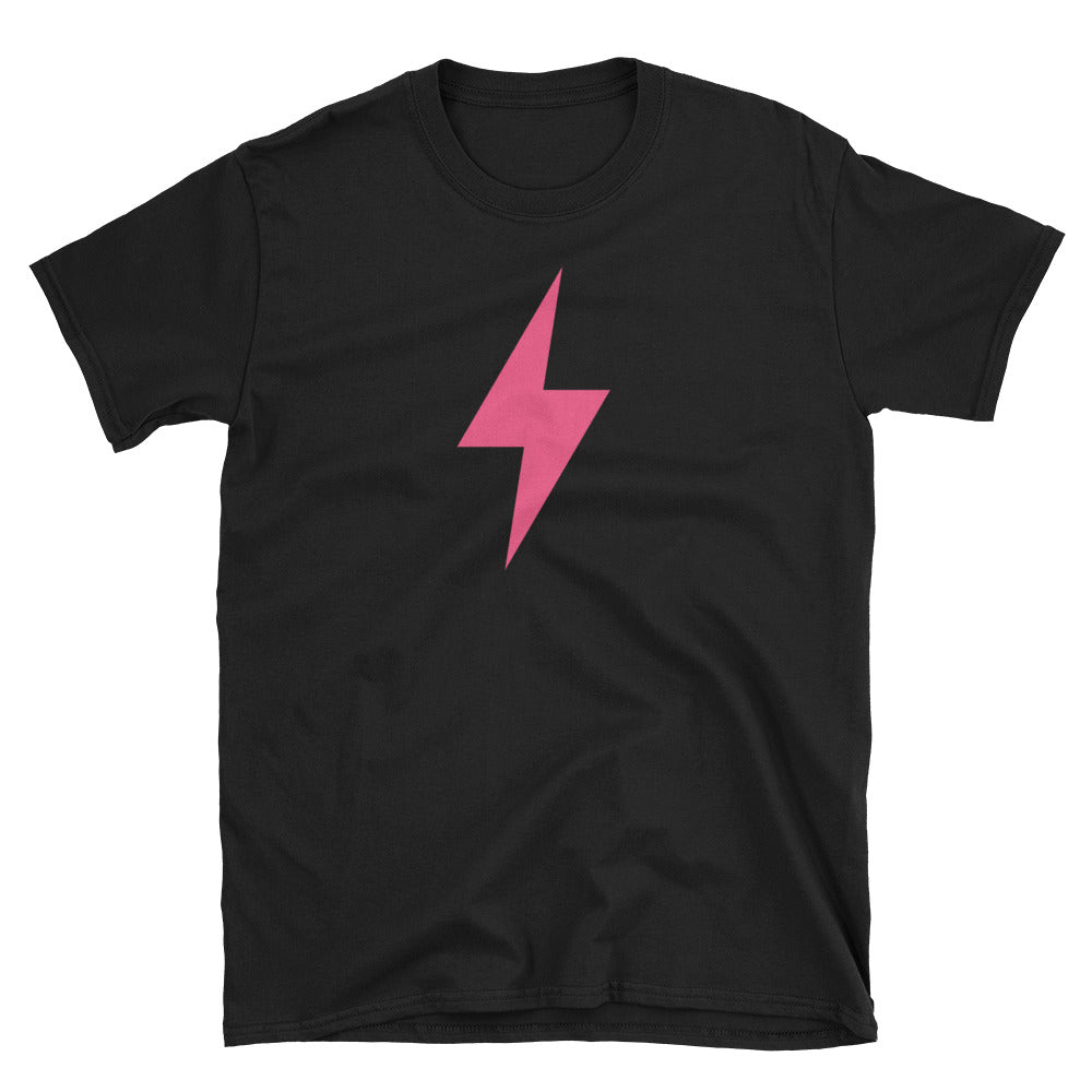 Pink Lightning Bolt Short-Sleeve Unisex T-Shirt