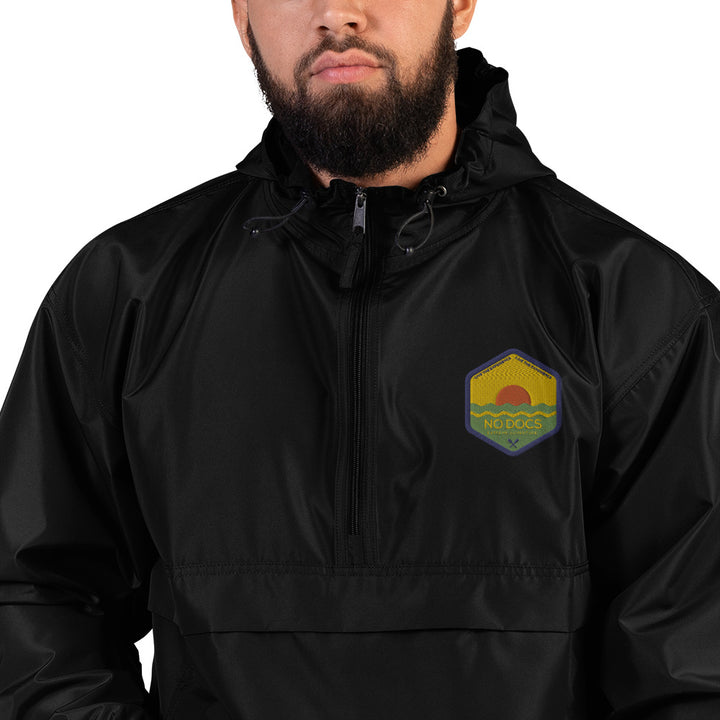 No Docs Extreme Adventure Embroidered Champion Packable Jacket