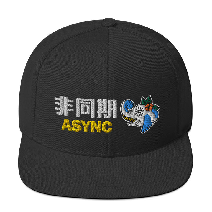 Async 3D Embroidered Snapback Hat