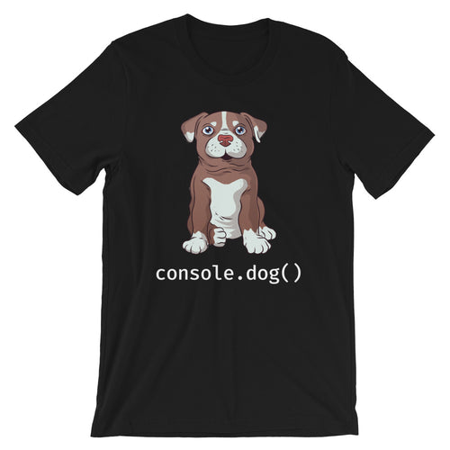 console.dog() Pitbull Short-Sleeve Unisex T-Shirt
