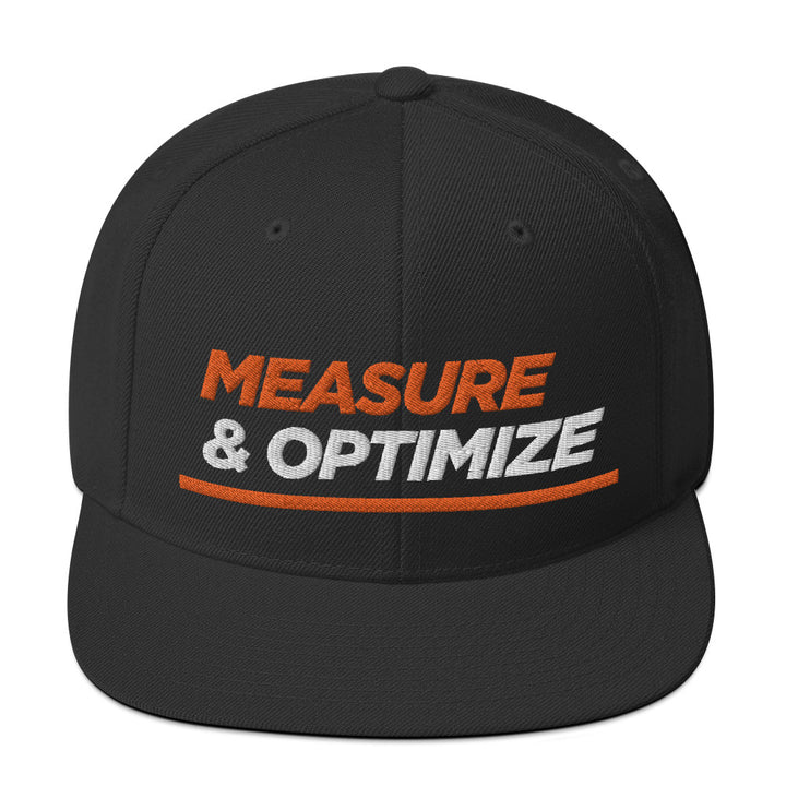 Measure & Optimize Snapback Hat