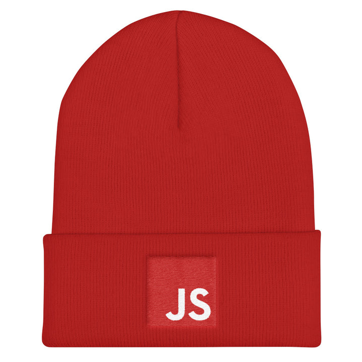 Red JavaScript Cuffed Beanie