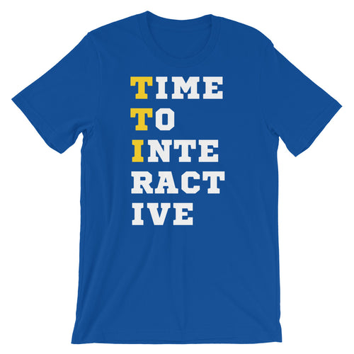 Time to Interactive Short-Sleeve Unisex T-Shirt