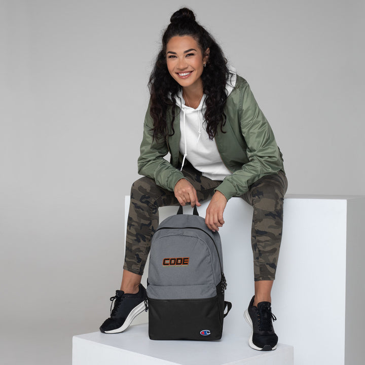 CODE Embroidered Champion Backpack