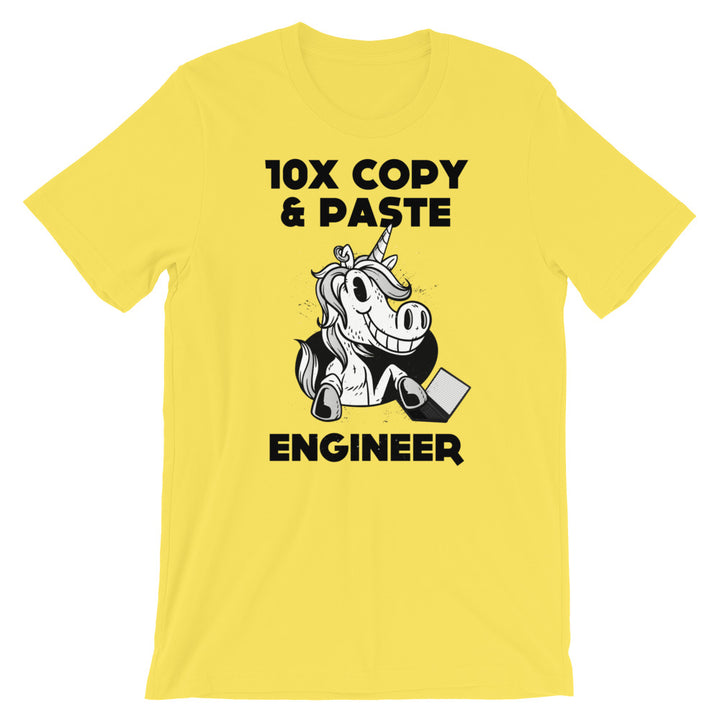 10x Copy & Paste Engineer Short-Sleeve Unisex T-Shirt