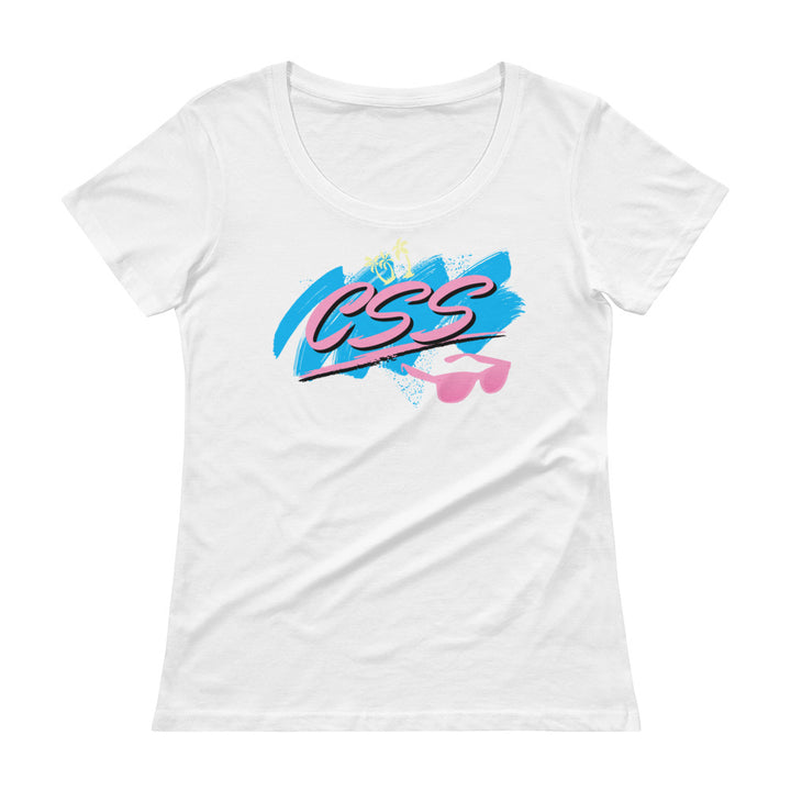 CSS Vibes Women's Semi-Sheer Scoopneck T-Shirt
