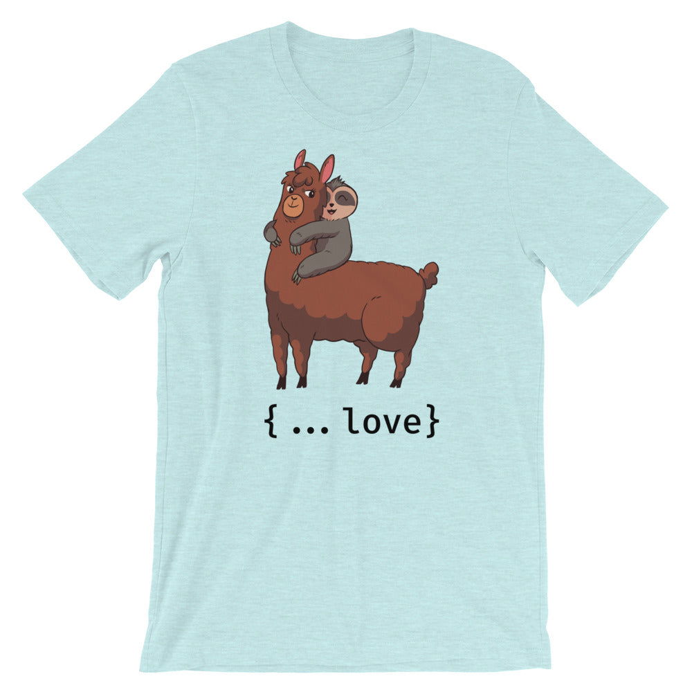 Spread Love Llama Short-Sleeve Unisex T-Shirt