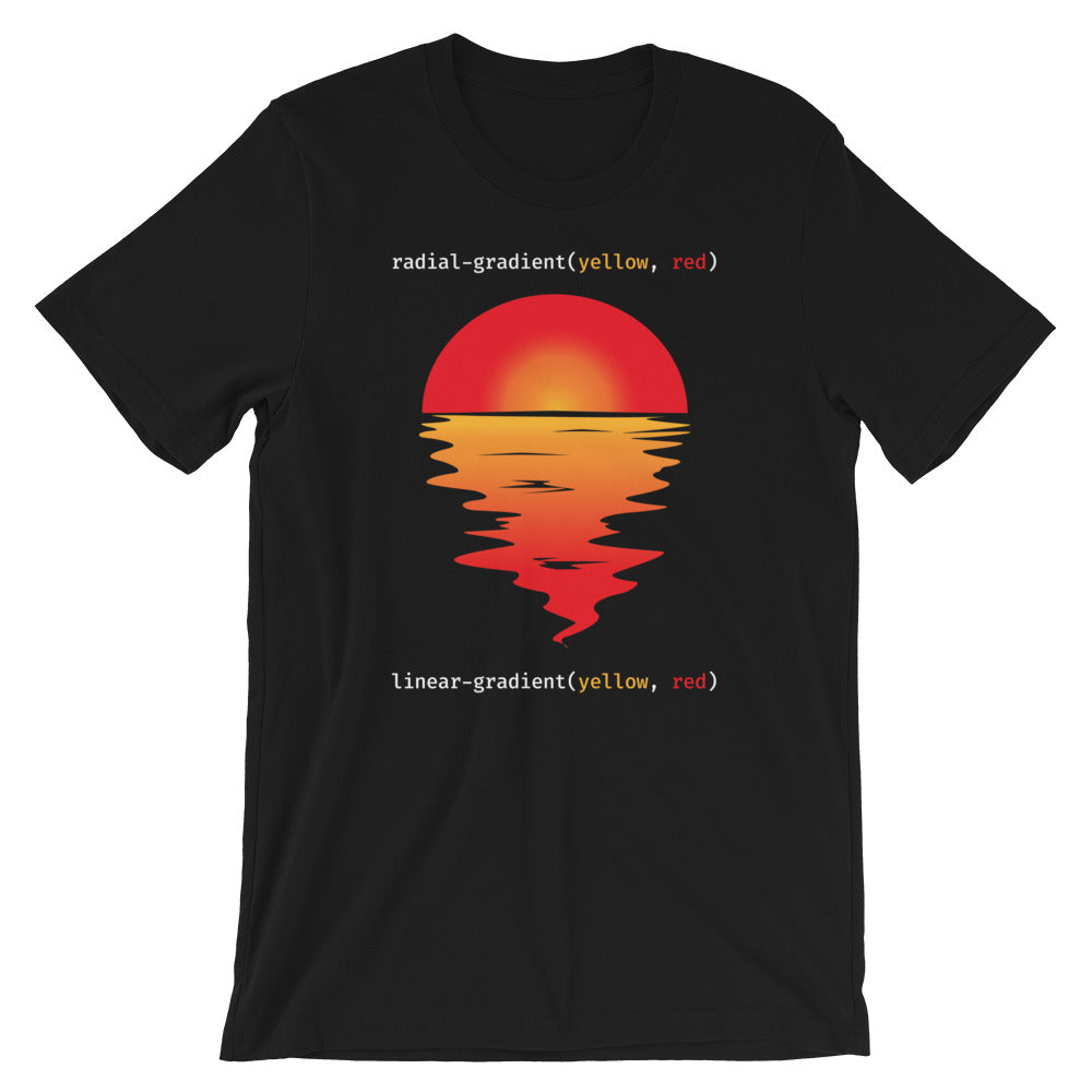 CSS Gradients Sunset Short-Sleeve Unisex T-Shirt
