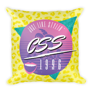CSS Just Like Stylin' Square Pillow
