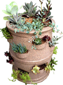 "Patio Pocket Planter ""Brown Sandstone Color"""