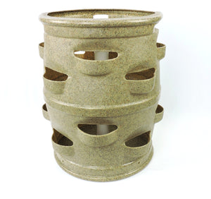 "Container Gardening Planter for Growing Edibles.  Patio Pocket Planter ""Brown Sandstone Color""."