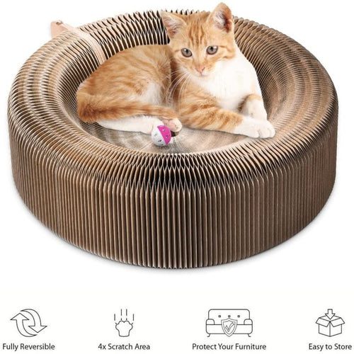 Cat Cardboard Round Scratcher Bed by PresentPet