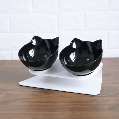 Raised Double Cat Bowl by PresentPet