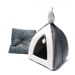 Grey Heated Cat Cave by PresentPet