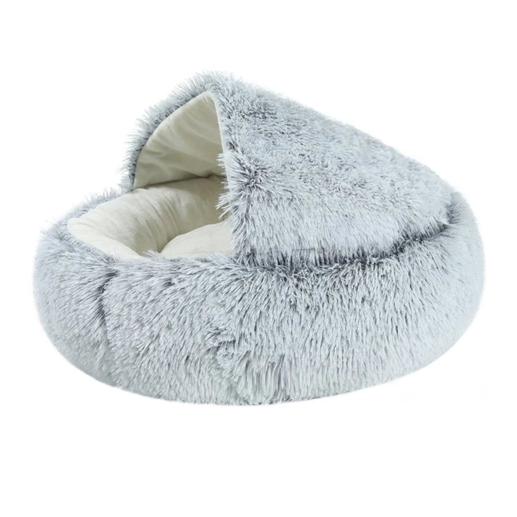 Plush Cave Cat Bed by PresentPet