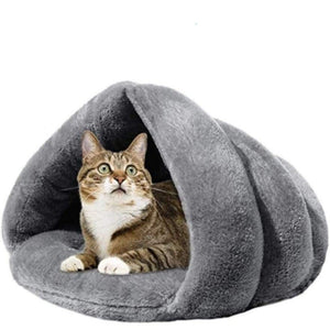 PresentPet Cosy Heated Cat Bed - Grey / S