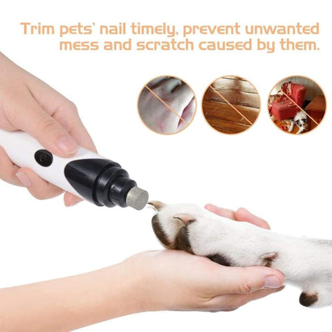 PresentPet Rechargeable Dog Nail Grinder - White