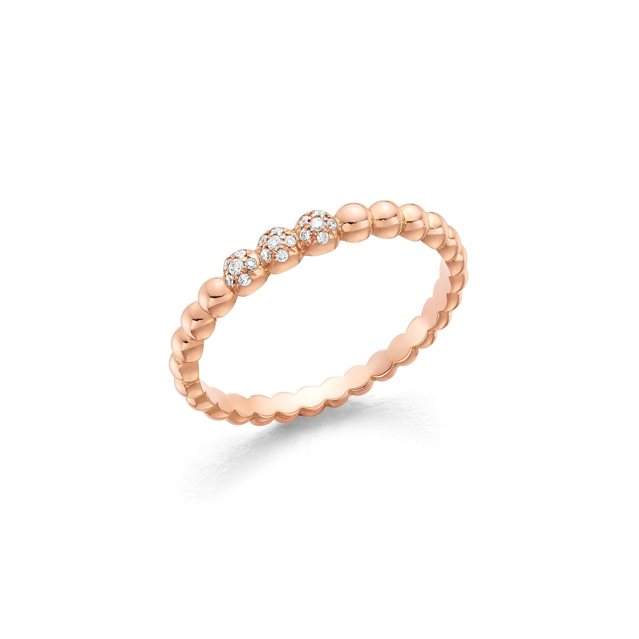 Hattie Banks Rose Gold Bubble Ring