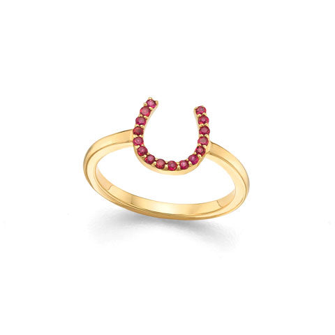 Ruby Horseshoe Ring