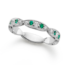 Load image into Gallery viewer, Emerald X Diamond Band