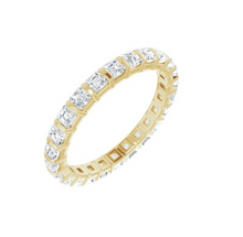 Load image into Gallery viewer, Asscher Eternity Band