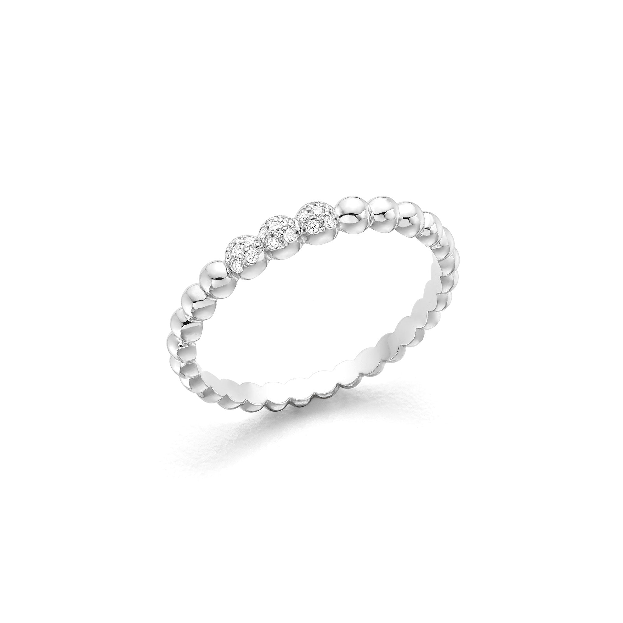 White Gold Bubble Ring Hattie Banks