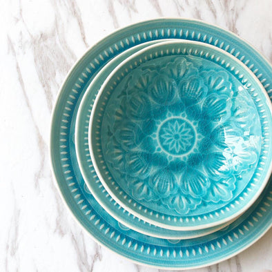 Blue Mosaic Dinner Set