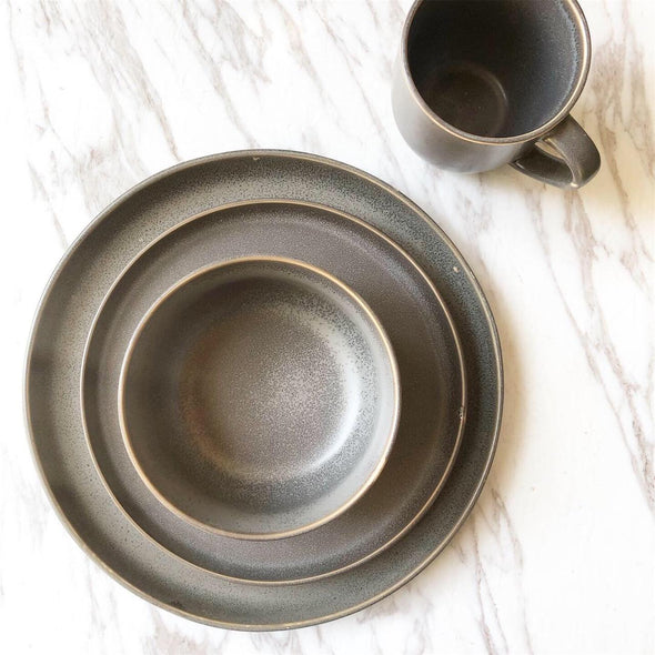 Matte Dark Grey Dinner Set