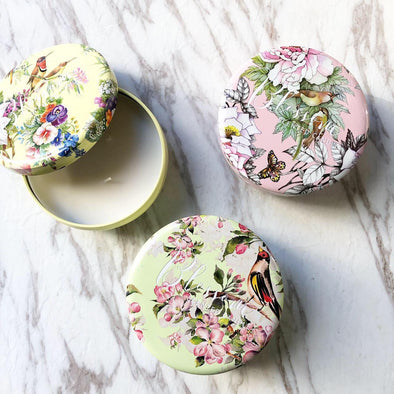 Blossom Tin Scented Candles