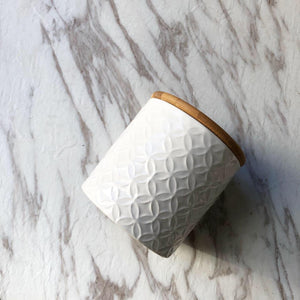 White Canister Candle