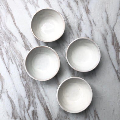 Ceramic White Mini Dip Bowls