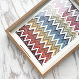 Plexi/Wood Chevron Tray