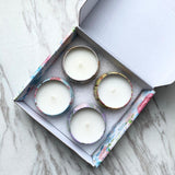 Set of 4 Scented Candles Box