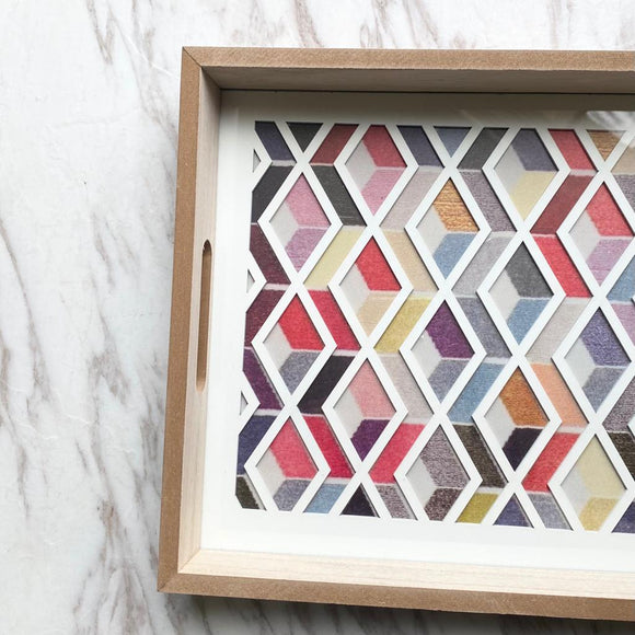 Plexi/Wood Zigzag Tray