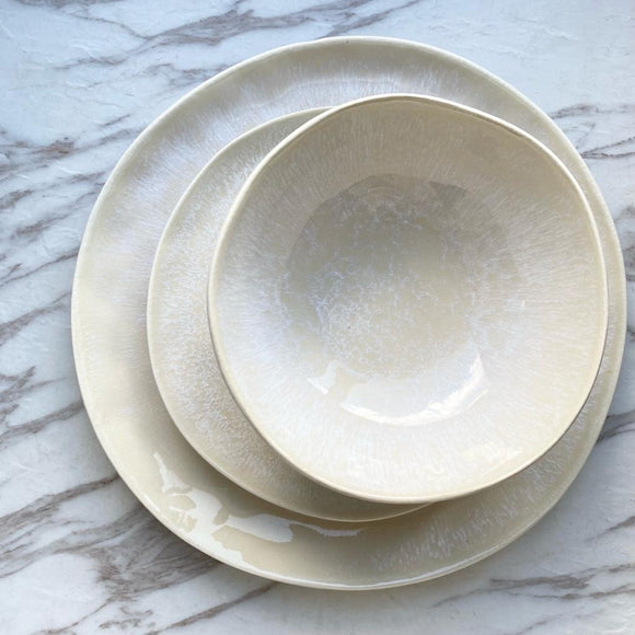 Beige Snow Dinner Set