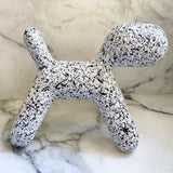 Resin Dog - White Dotted