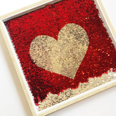 Sequin Heart Frame