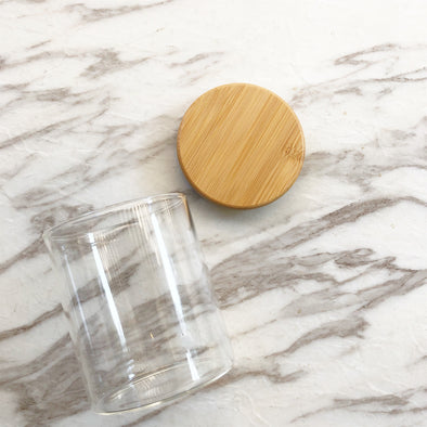 Glass Canister w/ Bamboo Lid