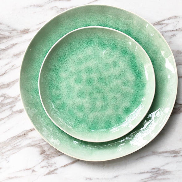 Green Dining Plates
