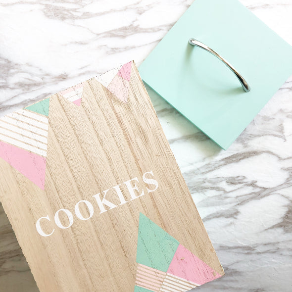 Pastel Wood Cookie Box
