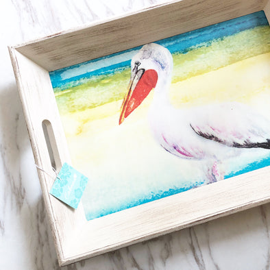 Summer Pelican Tray