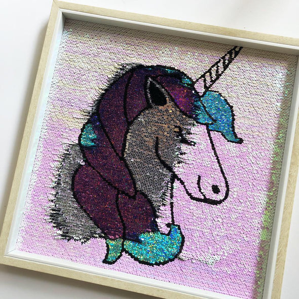 Sequin Unicorn Frame