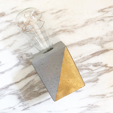 Gold Concrete LED Lamp