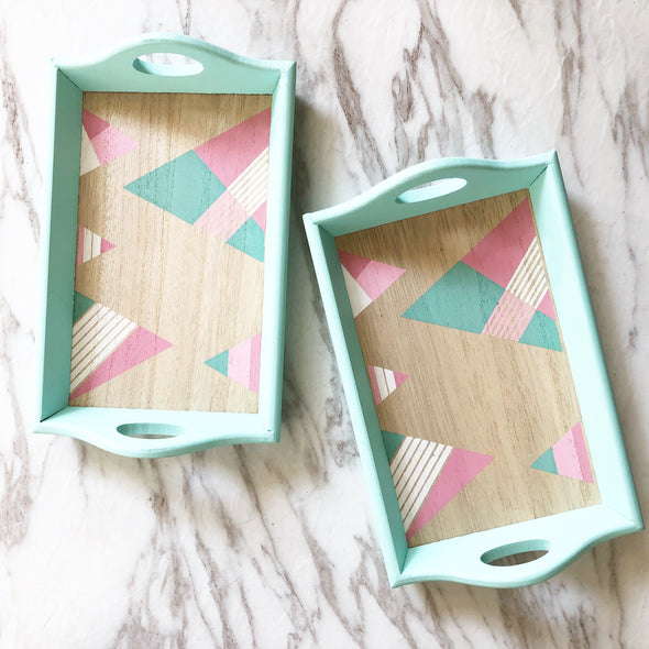Mini Wooden Pastel Trays
